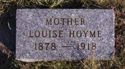 HOYME, LOUISE - Moody County, South Dakota | LOUISE HOYME - South Dakota Gravestone Photos