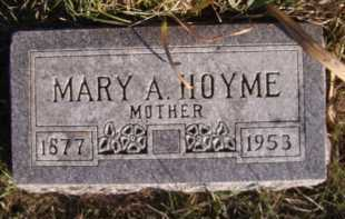 HOYME, MARY A - Moody County, South Dakota | MARY A HOYME - South Dakota Gravestone Photos