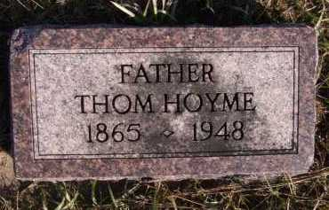 HOYME, THOM - Moody County, South Dakota | THOM HOYME - South Dakota Gravestone Photos