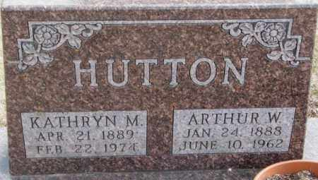 HUTTON, ARTHUR W. - Moody County, South Dakota | ARTHUR W. HUTTON - South Dakota Gravestone Photos