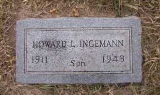 INGEMANN, HOWARD L - Moody County, South Dakota   HOWARD L INGEMANN - South Dakota Gravestone Photos