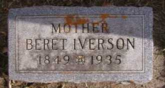 IVERSON, BERET - Moody County, South Dakota | BERET IVERSON - South Dakota Gravestone Photos