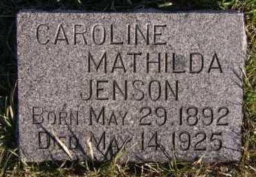 JENSON, CAROLINE MATHILDA - Moody County, South Dakota | CAROLINE MATHILDA JENSON - South Dakota Gravestone Photos