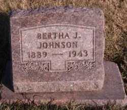 JOHNSON, BERTHA J - Moody County, South Dakota | BERTHA J JOHNSON - South Dakota Gravestone Photos