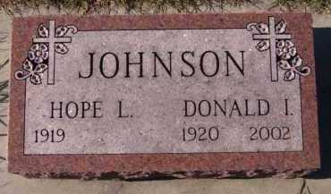 JOHNSON, HOPE L - Moody County, South Dakota | HOPE L JOHNSON - South Dakota Gravestone Photos