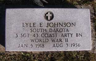JOHNSON, LYLE E - Moody County, South Dakota | LYLE E JOHNSON - South Dakota Gravestone Photos