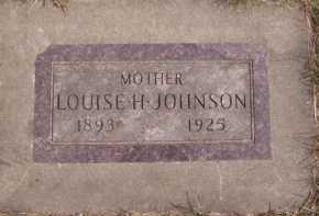 JOHNSON, LOUISE H - Moody County, South Dakota | LOUISE H JOHNSON - South Dakota Gravestone Photos