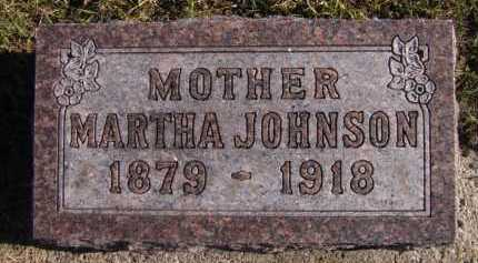 JOHNSON, MARTHA - Moody County, South Dakota | MARTHA JOHNSON - South Dakota Gravestone Photos