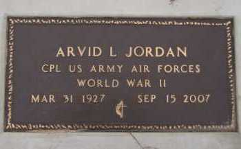 JORDAN, ARVID L  (MILITARY) - Moody County, South Dakota | ARVID L  (MILITARY) JORDAN - South Dakota Gravestone Photos