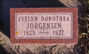 JORGENSEN, EVELYN DOROTHEA - Moody County, South Dakota | EVELYN DOROTHEA JORGENSEN - South Dakota Gravestone Photos