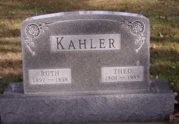 KAHLER, THEO - Moody County, South Dakota | THEO KAHLER - South Dakota Gravestone Photos