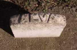 KING (FOOTSTONE), ALVA - Moody County, South Dakota   ALVA KING (FOOTSTONE) - South Dakota Gravestone Photos