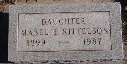 KITTELSON, MABEL E - Moody County, South Dakota | MABEL E KITTELSON - South Dakota Gravestone Photos