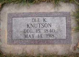 KNUTSON, OLE K - Moody County, South Dakota | OLE K KNUTSON - South Dakota Gravestone Photos
