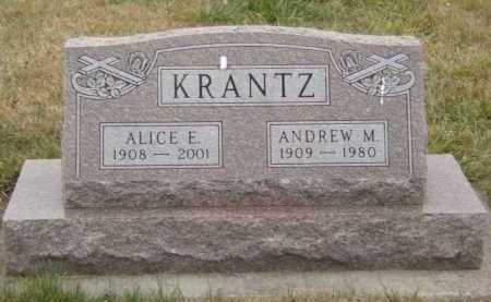 KRANTZ, ALICE E - Moody County, South Dakota | ALICE E KRANTZ - South Dakota Gravestone Photos