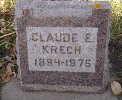 KRECH, CLAUDE E - Moody County, South Dakota | CLAUDE E KRECH - South Dakota Gravestone Photos