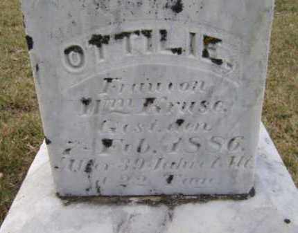KRUSE (CLOSEUP), O T TILIE - Moody County, South Dakota   O T TILIE KRUSE (CLOSEUP) - South Dakota Gravestone Photos