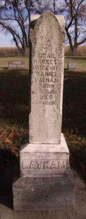 HACKETT LATHAM, ABIGAIL - Moody County, South Dakota | ABIGAIL HACKETT LATHAM - South Dakota Gravestone Photos