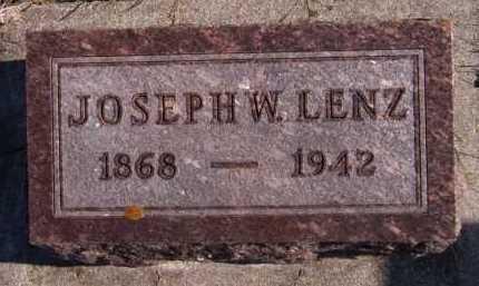 LENZ, JOSEPH W - Moody County, South Dakota | JOSEPH W LENZ - South Dakota Gravestone Photos