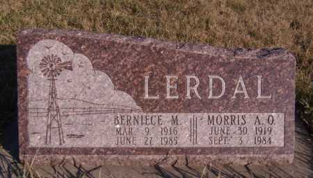 LERDAL, BERNIECE M - Moody County, South Dakota | BERNIECE M LERDAL - South Dakota Gravestone Photos