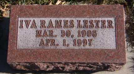 RAMES LESTER, IVA - Moody County, South Dakota | IVA RAMES LESTER - South Dakota Gravestone Photos