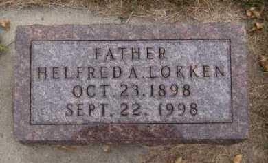 LOKKEN, HELFRED A - Moody County, South Dakota   HELFRED A LOKKEN - South Dakota Gravestone Photos