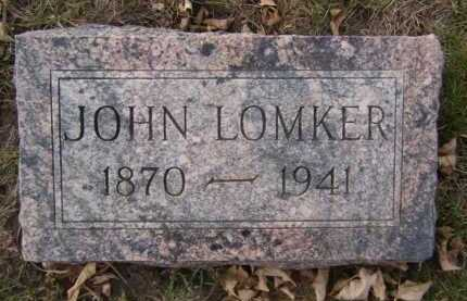 LOMKER, JOHN - Moody County, South Dakota | JOHN LOMKER - South Dakota Gravestone Photos