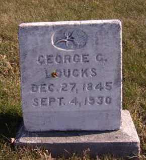 LOUCKS, GEORGE G - Moody County, South Dakota | GEORGE G LOUCKS - South Dakota Gravestone Photos