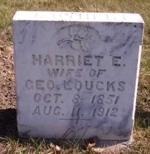 LOUCKS, HARRIET E - Moody County, South Dakota | HARRIET E LOUCKS - South Dakota Gravestone Photos