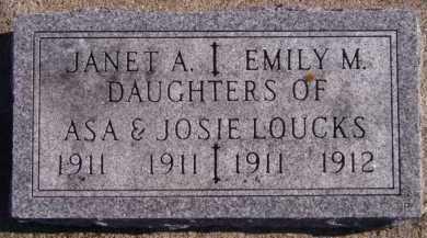 LOUCKS, JANET A - Moody County, South Dakota | JANET A LOUCKS - South Dakota Gravestone Photos