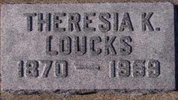 LOUCKS, THERESIA K - Moody County, South Dakota | THERESIA K LOUCKS - South Dakota Gravestone Photos