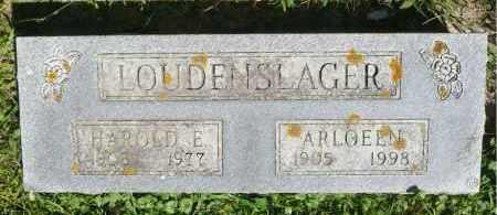 LOUDENSLAGER, ARLOEEN - Moody County, South Dakota   ARLOEEN LOUDENSLAGER - South Dakota Gravestone Photos