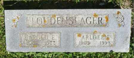 LOUDENSLAGER, ARLOEEN - Moody County, South Dakota | ARLOEEN LOUDENSLAGER - South Dakota Gravestone Photos