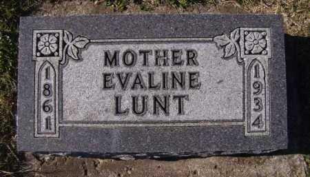 LUNT, EVALINE - Moody County, South Dakota | EVALINE LUNT - South Dakota Gravestone Photos