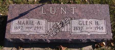 LUNT, GLEN H - Moody County, South Dakota | GLEN H LUNT - South Dakota Gravestone Photos