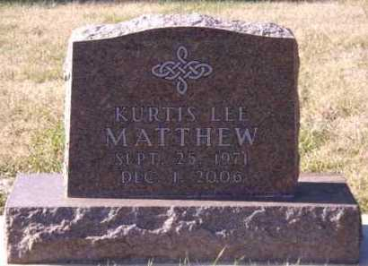 MATTHEW, KURTIS LEE - Moody County, South Dakota | KURTIS LEE MATTHEW - South Dakota Gravestone Photos