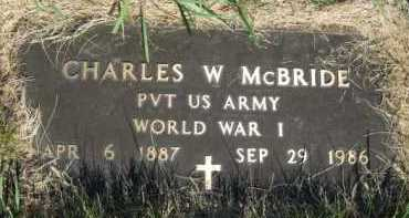 MCBRIDE (MILITARY), CHARLES W - Moody County, South Dakota | CHARLES W MCBRIDE (MILITARY) - South Dakota Gravestone Photos
