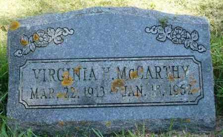 MCCARTHY, VIRGINIA H. - Moody County, South Dakota | VIRGINIA H. MCCARTHY - South Dakota Gravestone Photos