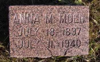 MOEN, ANNA M - Moody County, South Dakota | ANNA M MOEN - South Dakota Gravestone Photos
