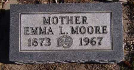 MOORE, EMMA L - Moody County, South Dakota | EMMA L MOORE - South Dakota Gravestone Photos