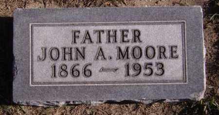 MOORE, JOHN A - Moody County, South Dakota   JOHN A MOORE - South Dakota Gravestone Photos