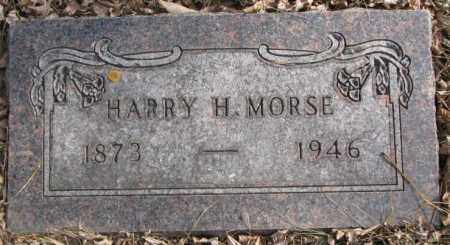 MORSE, HARRY H. - Moody County, South Dakota | HARRY H. MORSE - South Dakota Gravestone Photos