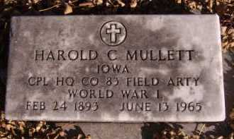 MULLETT, HAROLD C (MILITARY) - Moody County, South Dakota | HAROLD C (MILITARY) MULLETT - South Dakota Gravestone Photos