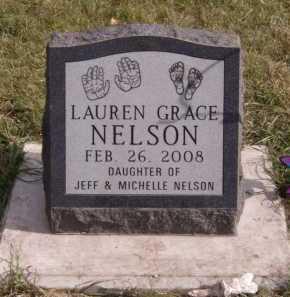 NELSON, LAUREN GRACE - Moody County, South Dakota | LAUREN GRACE NELSON - South Dakota Gravestone Photos