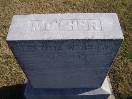 OGDEN, LEETITIA W (CLOSEUP) - Moody County, South Dakota   LEETITIA W (CLOSEUP) OGDEN - South Dakota Gravestone Photos