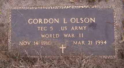 OLSON, GORDON L - Moody County, South Dakota | GORDON L OLSON - South Dakota Gravestone Photos