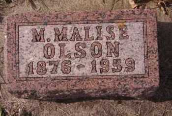 OLSON, M MALISE - Moody County, South Dakota | M MALISE OLSON - South Dakota Gravestone Photos