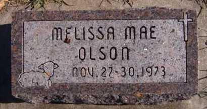 OLSON, MELISSA MAE - Moody County, South Dakota   MELISSA MAE OLSON - South Dakota Gravestone Photos