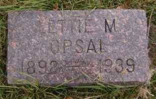 OPSAL (OR OPPSAL), LETTIE M - Moody County, South Dakota | LETTIE M OPSAL (OR OPPSAL) - South Dakota Gravestone Photos