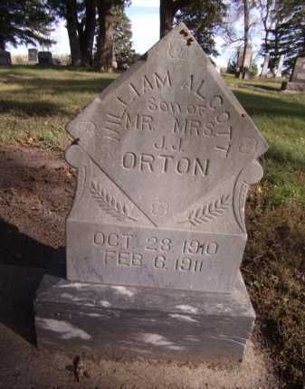 ORTON, WILLIAM ALCOTT - Moody County, South Dakota | WILLIAM ALCOTT ORTON - South Dakota Gravestone Photos
